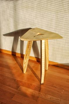 Simple wooden stool diy crafts triangle lightweight