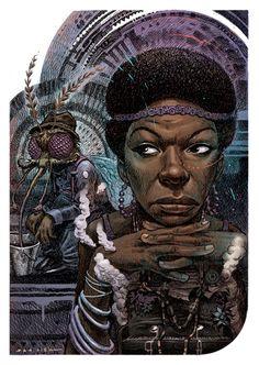 Nina Simone Part of the Ego Strip series by Dan Lish www.danlish.com www.facebook.com/danlish01 http://danlishartworks.bigcartel.com