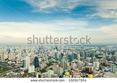 cityscape of bangkok - stock photo Bangkok, New York Skyline, Asia, Stock Photos, Travel, Viajes, Trips, Tourism, Traveling