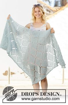 Women - Free knitting patterns and crochet patterns by DROPS Design Diy Crochet And Knitting, Easy Knitting, Crochet Shawl, Crochet Ideas, Shawl Patterns, Lace Patterns, Knitting Patterns Free, Crochet Patterns, Drops Design