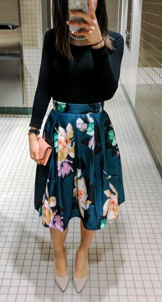 #OOTD #WIW tea length skirt