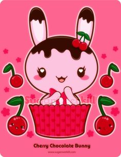 Cherry Chocolate Truffle Bunny by mAi2x-chan.deviantart.com on @deviantART