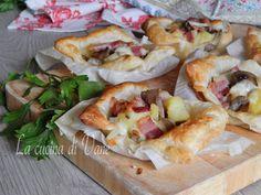 Cestini con funghi patate e pancetta con mozzarella filante, una ricetta facile e veloce per portare a tavola un piatto ricco e gustoso,un successo a tavola
