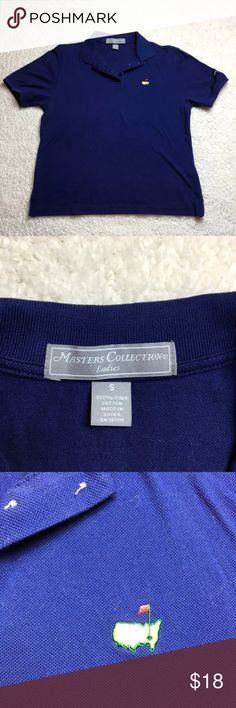Navy Blue Masters Collection Polo Shirt Gently pre owned condition with no flaws. Measurements taken while laid flat. Armpit to armpit 18.5 inches, length 21 inches. Masters Collection Tops