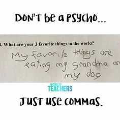 Grammar matters.