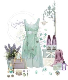 """Pastels Gone Edgy"" by mzdiamondgirl ❤ liked on Polyvore"