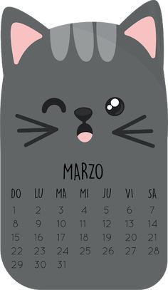 Mamá Decoradora: Calendario 2020 gatito Planner Stickers, Love My Life Quotes, Creative Calendar, Gifts In A Mug, Crafts For Kids, Doodles, Lettering, How To Plan, Drawings