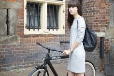 Lovely by Lucy may have seen me cycling down your instagram timeline a little while ago – that was because I was riding this super cool NSMBL x VANMOOF bicycle for a feature on NSMBL. It's in Dutch but you can read the interview here. I love the pictures, shot by my friends Jason & Tyler and the bike is super cool as well! My own bike hasn't been used for quite a while but it's an old one, almost falling apart and I think that if I'd have a cool bike like this, I would ride it much more. An