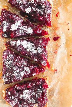 Leftover Cranberry Sauce Shortbread Bars