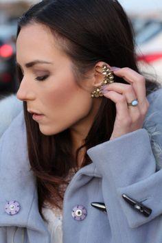 outfit fashion blogger azure coat
