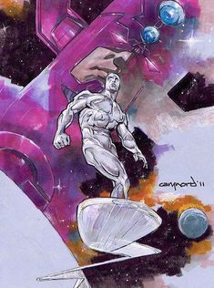 Silver Surfer Art by Cary Nord Marvel Comics Art, Marvel Comic Books, Marvel Heroes, Comic Book Heroes, Comic Books Art, Comic Art, Book Art, Marvel Comic Character, Comic Book Characters