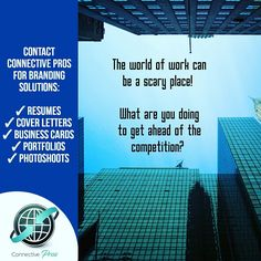 #ConnectivePros offers Personal Branding Solutions! Each service is provided with a FREE consultation and absolutely no obligation!   Our services are personalised and we work with each client independently to produce a unique product.   Contact us today to find out more! connectivepros@gmail.com    868.350.8425  #BrandingSolutions #Resumes #CoverLetters #BusinessCards #Portfolios #Photoshoots #PublicRelations #Marketing #Media