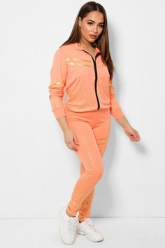 WOMEN'S 2 PCS CORAL FLECKS DOUBLE STRIPE TRACKSUIT  -Makes you looks chic, stylish, vibrant -Pull On Zip closure - Classy high quality fabric, breathable, skin-friendly, comfortable to wear. -It is made of high-quality soft fabric, comfortable to wear. -Soft, breathable, flexible for all day relaxing comfort. - Lightweight, quick-drying material, perfect for spring, summer, fall and winter.  Occasion: Suitable for casual, leisure, daily wear, vacation, club, date, family gathering, jogging. Vacation Club, Looks Chic, Summer Fall, Daily Wear, Jogging, Soft Fabrics, Swatch, Vibrant