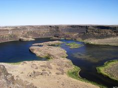 Dry Falls, WA - amazing to contemplate the size of the huge waterfall and floods that created this!