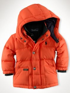 Hooded Elmwood Down Jacket - Infant Boys Outerwear & Jackets - RalphLauren.com