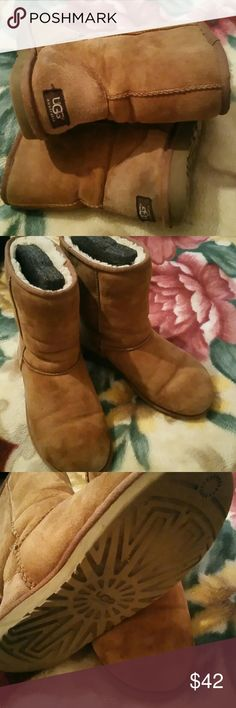 Uggs short Uggs short. Size 7. Some wear from normal use. No holes soles have some wear. uggs Shoes