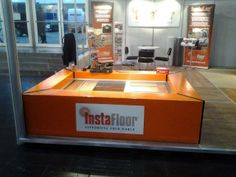 InstaFloor Display Stand showcasing our Instalay