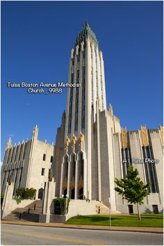 The Tulsa  Boston Avenue United Methodist Church was designed by Dr. Adah Robinson, assisted by Bruce Goff, and is one of the world's most significant examples of art deco architecture.