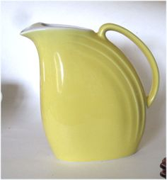 Vintage Hall China NoraYellow and White Refrigerator Jug or Pitcher