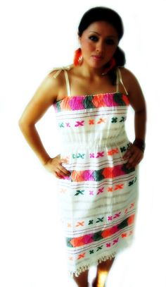 mexico amor y color vintage Mexican Embroidered by elizabethpalmer, $88.00