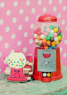Gumball Machines - decorated sugar cookies