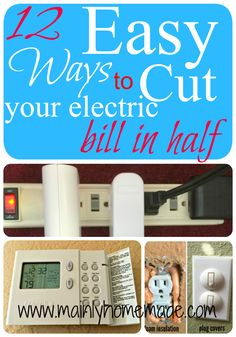 Easy ways to cut electric bill in half. Using simple ideas to decrease your overall electric bill every month. I was amazed with the first one.