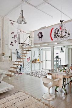 eclectic lofted space