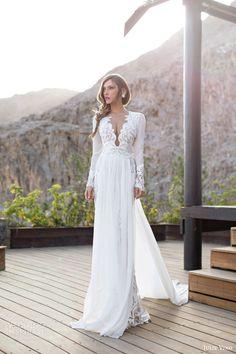 julie vino bridal 2014 2015 daniella long sleeve wedding dress over skirt