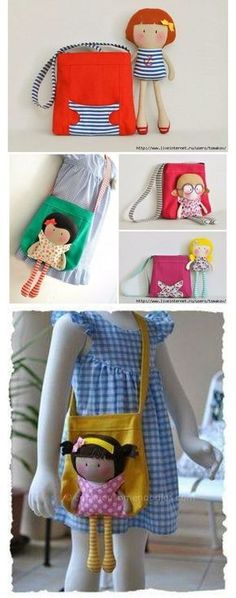 ideas sewing toys for girls felt Sewing Patterns For Kids, Sewing Projects For Kids, Sewing For Kids, Diy For Kids, Fabric Crafts, Sewing Crafts, Fabric Toys Diy, Fun Diy Crafts, Fabric Purses