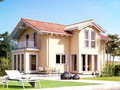 evolution 122 v4 einfamilienhaus variante a mediterraner stil fassadenfarbe satteldach haus bauen