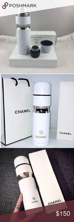 Compliments of Chanel VIP Gift- NEW Thermos AUTHENTIC CHANEL THERMOS - VIP GIFT  EXCLUSIVE LIMITED EDITION VIP GIFT FROM HALLOWEEN PARTY  New in Box Keeps drinks Hot & Cold 500ml Stainless Steel CHANEL Accessories