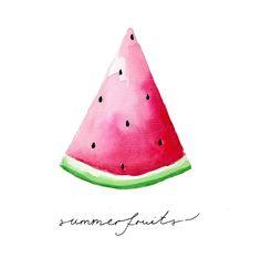 ILLUSTRATIONEN // Weshalb ich Sommerobst liebe