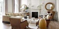 Designer Michael Reeves created a space that seamlessly blends the diplomat's two townhouses into one beautiful home.