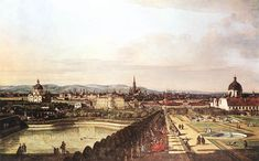 Vienna Viewed from the Belvedere Palace Bernardo Bellotto, called Canaletto (Italian, Oil on canvas, 2130 x 1350 cm, Kunsthistorisches Museum Vienna (Museum of Fine Arts). Venetian Painters, Jean Antoine Watteau, Kunsthistorisches Museum, Google Art Project, Jean Baptiste, Italian Artist, Italian Painters, Urban Landscape, Oeuvre D'art