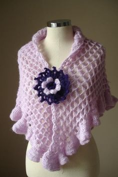 ON SALE Spring 2012 http://www.etsy.com/listing/63522489/on-sale-spring-2012-express-shipping  EXPRESS Shipping Lilac Shawl By by crochetlab, $52.70