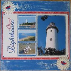 crafting with katie: Lighthouse Scrapbook Page