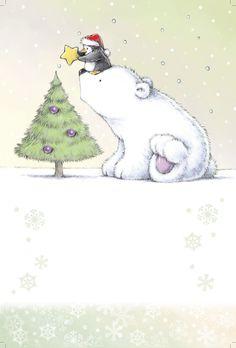 Penguin and polar bear