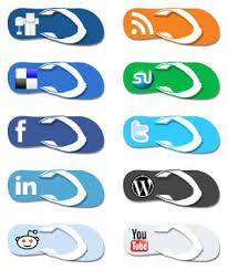 social media icons - Summer
