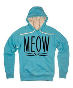 Aqua 'Meow' Hoodie on #zulily