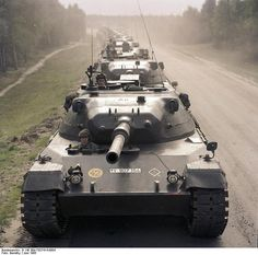 Leopard I tanks in column, 1965
