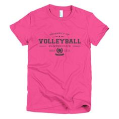 PLAYRS Club Women's Volleyball T-Shirt – Dark