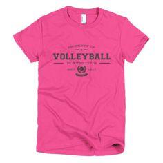 PLAYRS Club Women's Volleyball T-Shirt – Dark