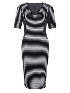 Planet - £59.00 - STRIPE PONTE SHIFT DRESS