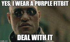 I wear a purple band...