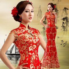 The Cheongsam Teapai Dress Chinese Gown, Cheongsam Wedding, Ball Gowns Prom, Elegant Woman, Special Occasion Dresses, Wedding Designs, Bridal Dresses, Fashion Dresses, Chinese Fashion
