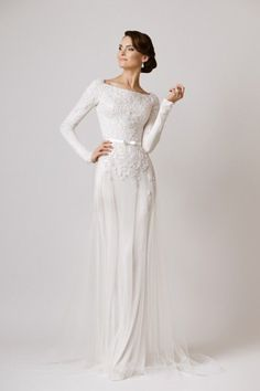 Modest Wedding Dress 2019 Long Sleeve Wedding Dress birenzweig 2019 bridal long sleeves off the shoulder deep plunging v neck full embellishment a line wedding dress sheer v back chapel train Modest Wedding, Elegant Wedding Dress, Wedding Gowns, Romantic Lace, Romantic Honeymoon, Romantic Evening, Wedding Ceremony, Honeymoon Dress, Evening Dresses For Weddings