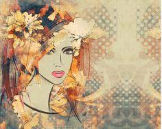 Stoff Rosen - Jersey, Exklusiver Digitaldruck, Panel,  Lady - ein Designerstück von ABC-Designerin bei DaWanda