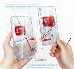 Space Age: Dual Screens Detach for Infinitely Sized Phone Augmented Technology, Augmented Virtual Reality, Futuristic Technology, Concept Phones, Transparent Design, Transparent Screen, Wearable Computer, Latest Phones, Mobile Learning