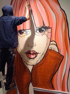 Beyond Banksy Project / El Bocho at work