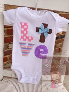 Easter Shirt or Bodysuit for girls  For by DarlingLittleBowShop